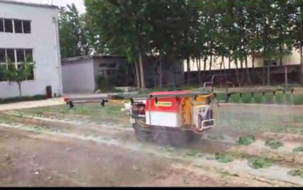 潍坊森海遥控式喷雾机演示