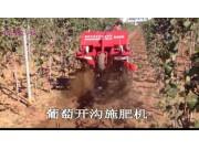 森海佐佐葡萄木开沟施肥机作业视频