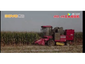 中農博遠4YZ-4X玉米收獲機作業視頻