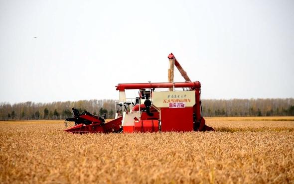 北大荒建三江—碧桂园无人化农场水稻全程无人机械化作业