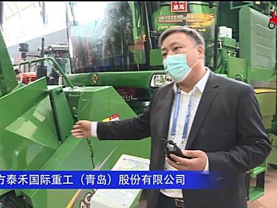 迪马4YZ-4CJ自走式茎穗兼收玉米收割机--2020中国农机展
