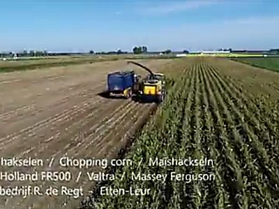纽荷兰FR500青贮机-作业视频