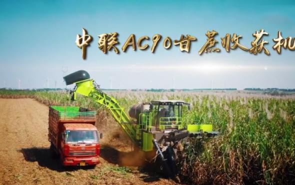 电竞AC90大吨位甘蔗收获机作业视频