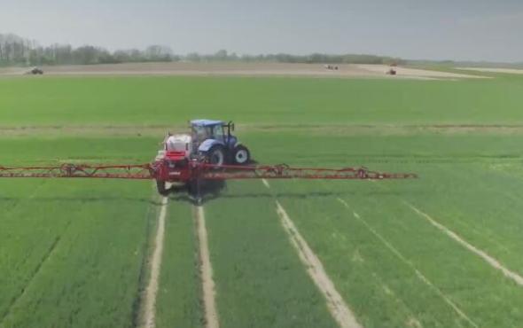 優尼亞牽引式打藥機EUROPA作業視頻2