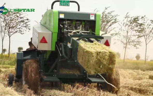 世達爾水稻秸稈回收作業視頻
