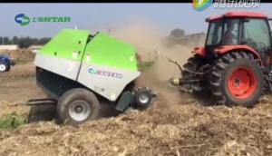 世達爾圓草捆打捆機收獲玉米秸稈作業視頻