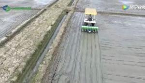 世达尔水稻穴直播机作业视频