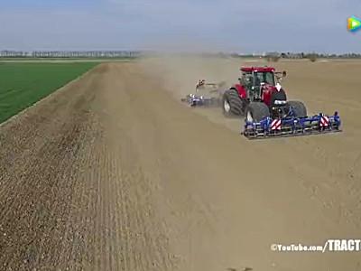 凱斯Puma1404拖拉機洋蔥苗床準備作業