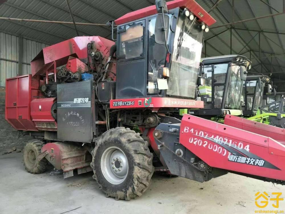 新疆牧神4YZB-6型自走式玉米联合收获机