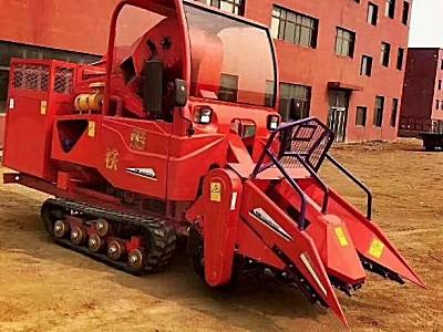废铁4YZP-2自走履带式玉米联合收获机